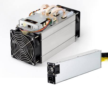 Antminer S9 bitcoin bányász tápegységgel