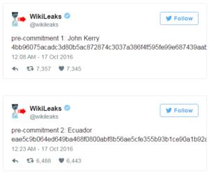 Wikileaks Tweets