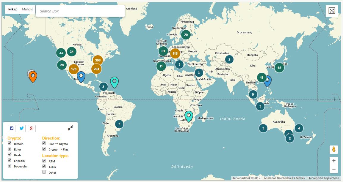 Bitcoin ATMek világszerte