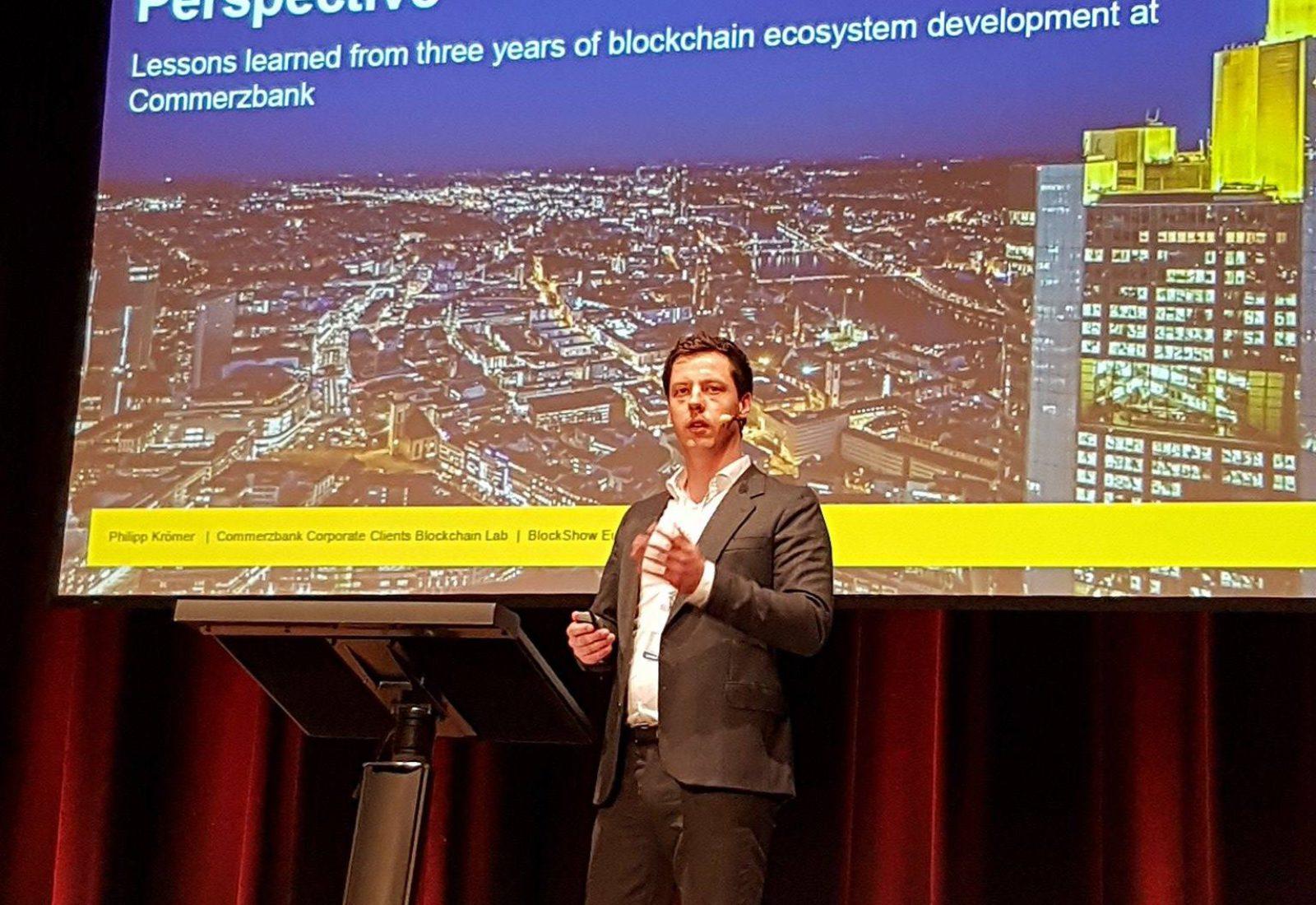 Blokklánc ökoszisztéma a bankok szemszögéből – Phillipp Krömer Commerzbank