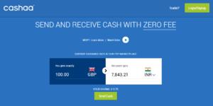 Pénzutalás a Cashaan keresztül árfolyam különbözet nélkül