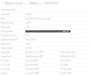 Megszületett a bitcoin cash a bitcoin hard fork után