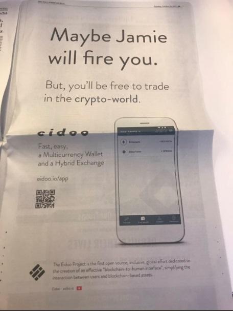 Wall Street Journalban trollkodik egy kripto startup