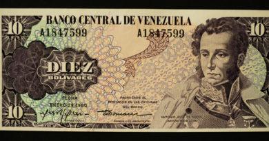 Utoljára 1980-ban volt 10 bolivár az utcákon - bolivár helyett venezuelai petro