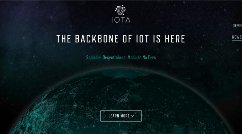 IOTA honlap képernyőkép