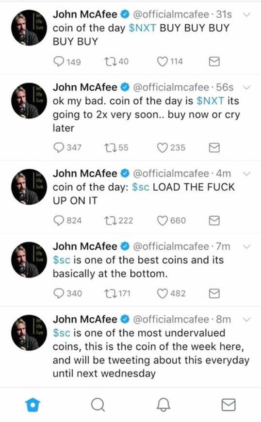 McAfee twitter fiókját feltörték