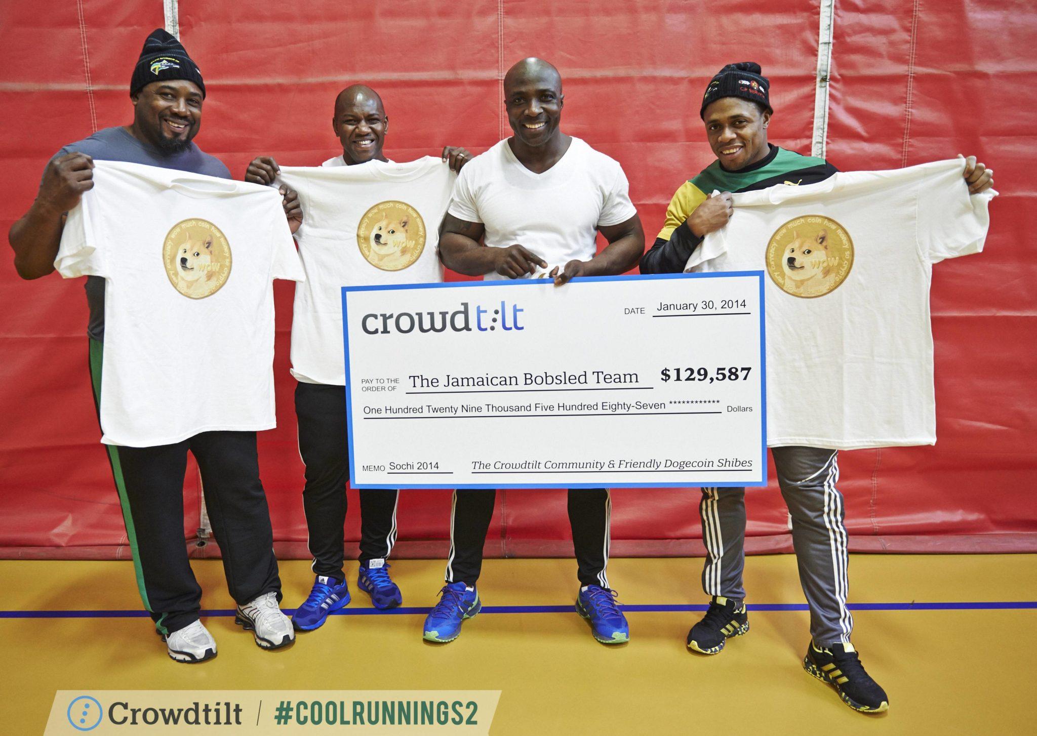 kriptoadományok úttöröje - jamaikai bobcsapat