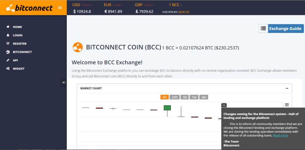 Bezárt a BitConnect
