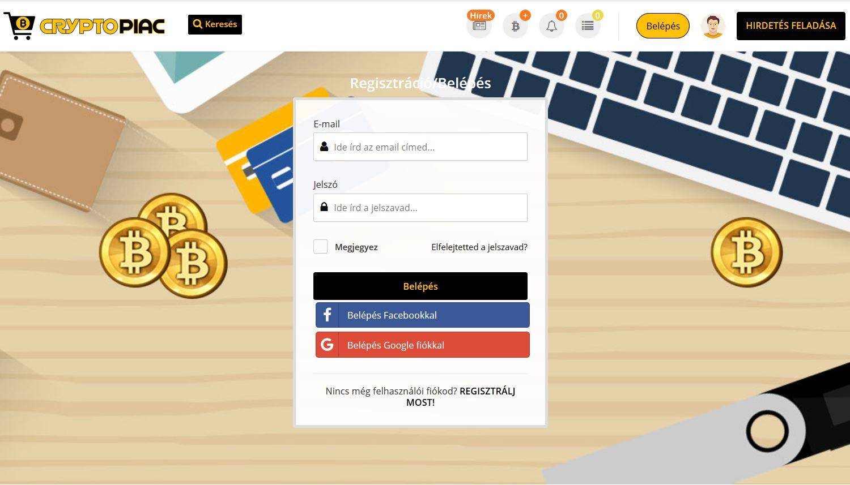 kriptopénz adok-veszek oldal