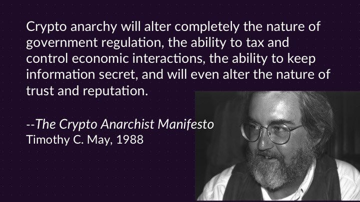 cypherpunk - The Crypto Anarchist Manifesto
