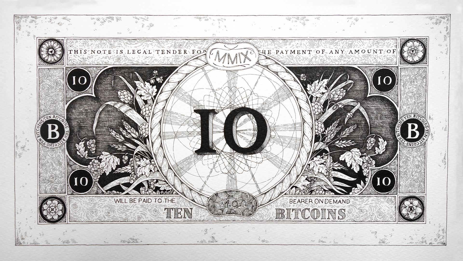 Bitcoin bankjegyek 10 bitcoin