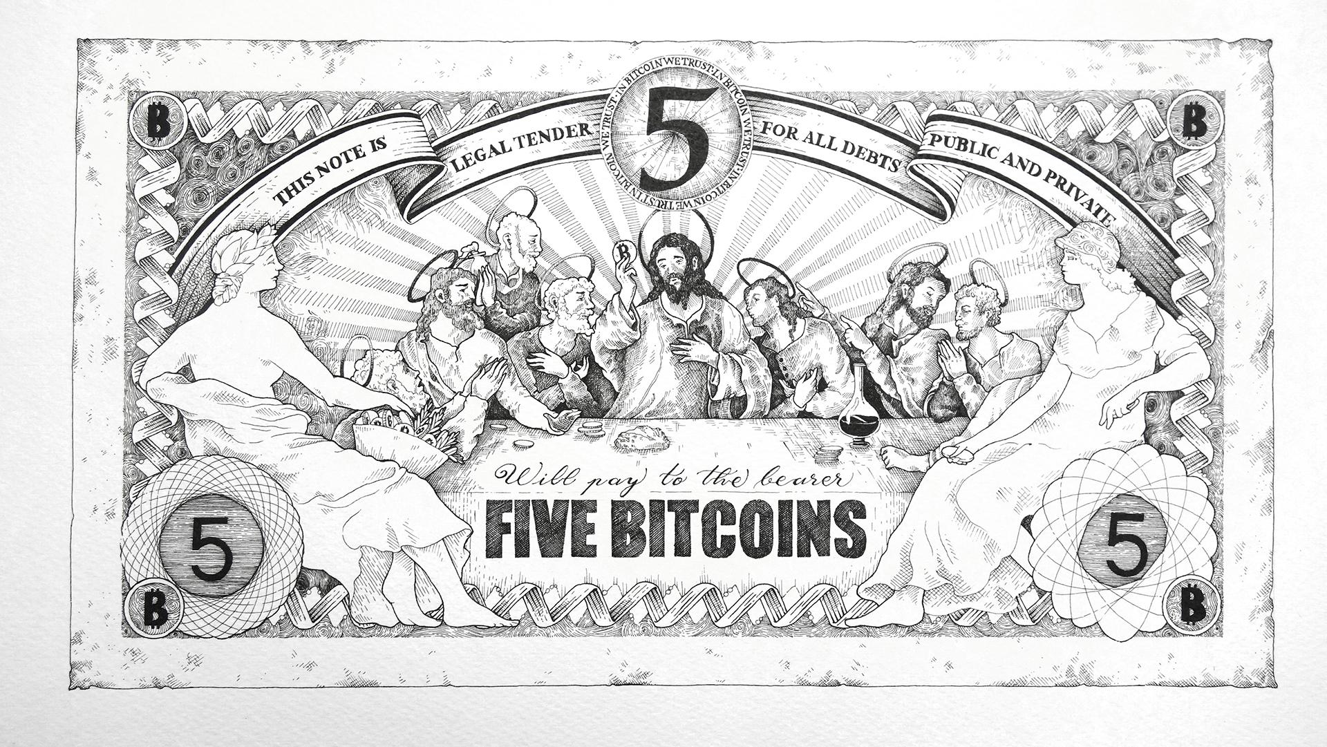 Bitcoin bankjegyek 5 bitcoin