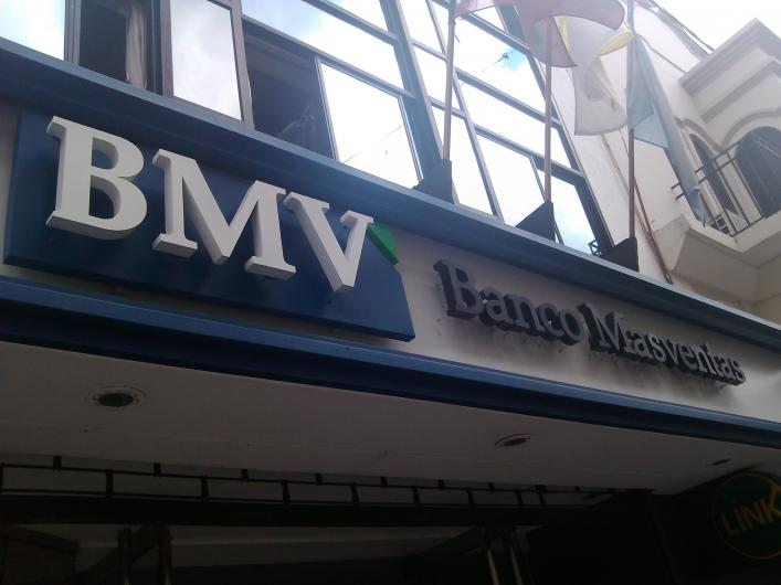 bitcoin - Banco Masventas fiók Argentinában