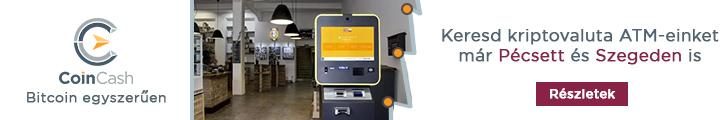 CoinCash ATM Pécsett és Szegeden
