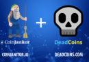 Egyesíti erőit a CoinJanitor és a Deadcoins.com a kriptoverzum megtisztítása érdekében