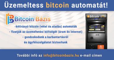 Legalább 10 bitcoin automatát tervez telepíteni a Bitcoin Bázis, üzlethelyiségeket keresünk