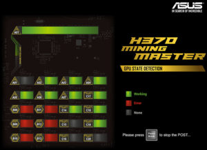 Asus H370 mining master diagnosztika