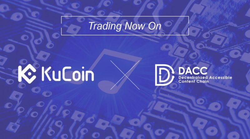 Növekvő token pool a KuCoin tőzsdén: mai naptól Decentralized Accessible Content Chain (DACC) tokennel is lehet kereskedni
