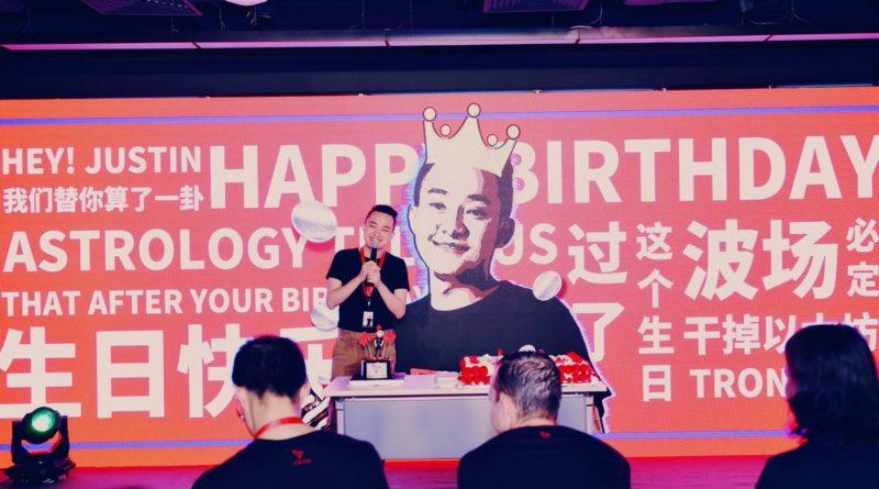 Justin Sun Boldog Születésnapot Tron