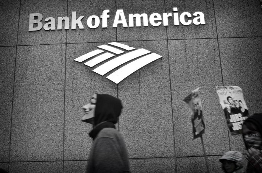 Bank of America, névtelen, fekete fehér, logó