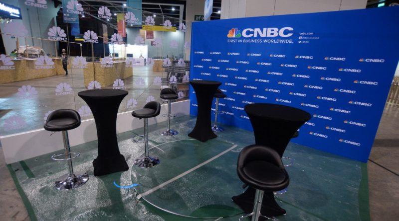 CNBC, hírstúdió, kép