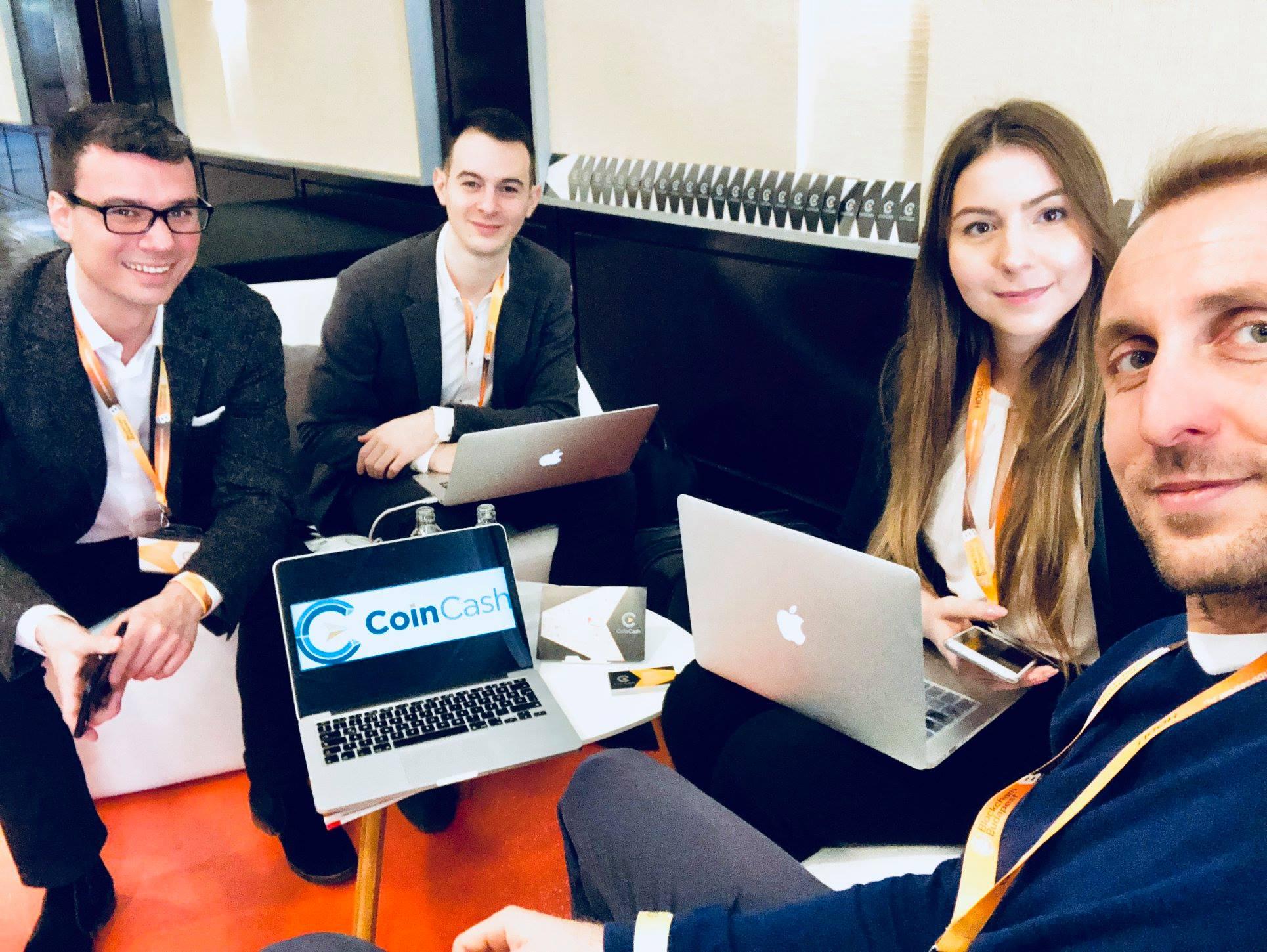 CoinCash csapat egy szelete