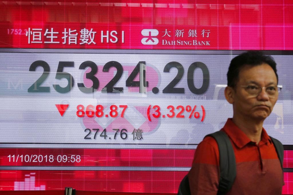 részvénypiaci zuhanás