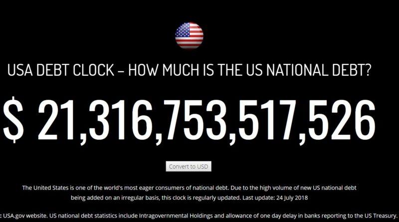 Hogyan fizetsz vissza 21 billió dollár adósságot? Válasz: sehogy