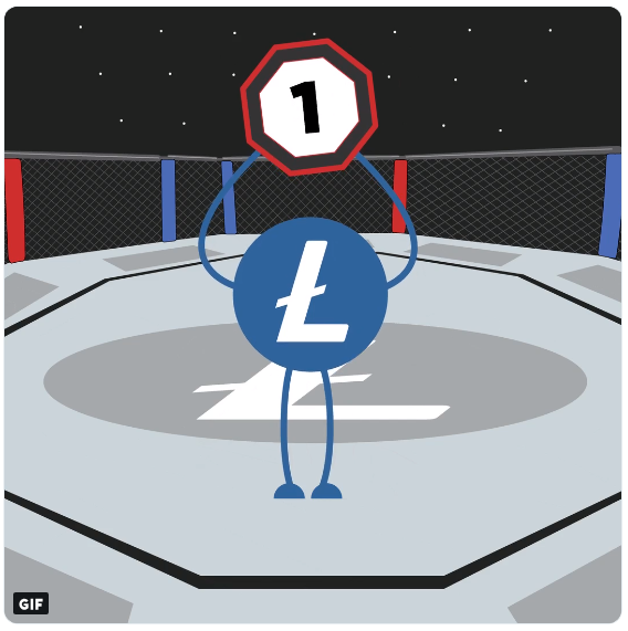 Litecoin az UFC ringben