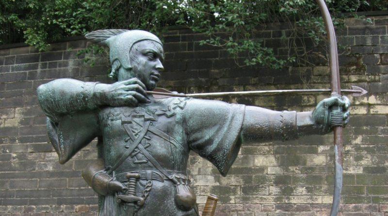 Fehér kalapos hackerek visszatérítettek 100 000 dollárnyi ETC-t | kép: Robin Hood szobor, Nottingham