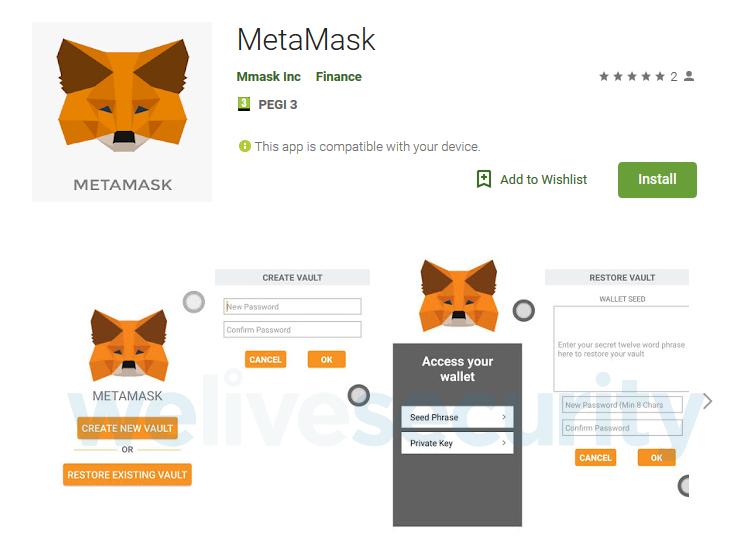 e4d04ea1f4 A MetaMask csapata az eset kapcsán kérte a Google Play fejlesztőit, hogy  lássa el védjeggyel alkalmazását: