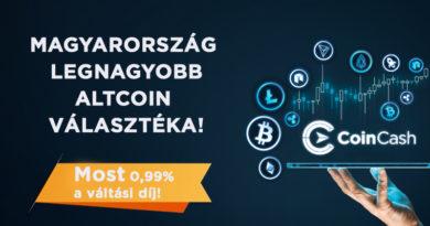 Páratlan altcoin-portfólió kereskedését kezdi meg a CoinCash.eu