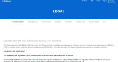 Coinbase legal