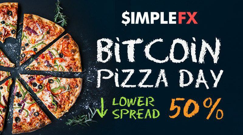 SimpleFX Bitcoin Pizza Napja