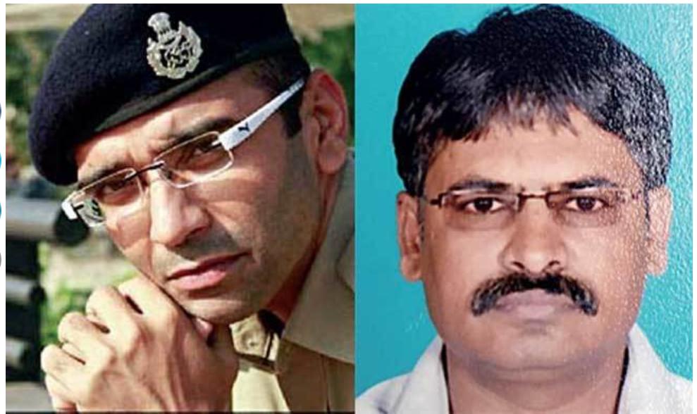 Chirag Savani rendőrfelügyelő és az áldozat Bharat Patel bitcoin trader   Forrás: Ahmedabad Mirror