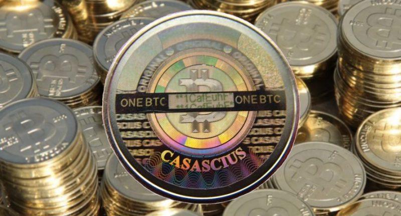 """Az eladó szerint a bitcoin egy """"kötelező darab a gyűjtőknek"""" és 2011-ben még Casascius (eredeti honlap itt)felhasználó készítette rézből."""