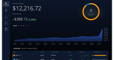 ShapeShift dashboard