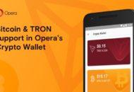 Az Opera böngésző adta a bitcoint (BTC) és a tront (TRX) a kriptotárcájához