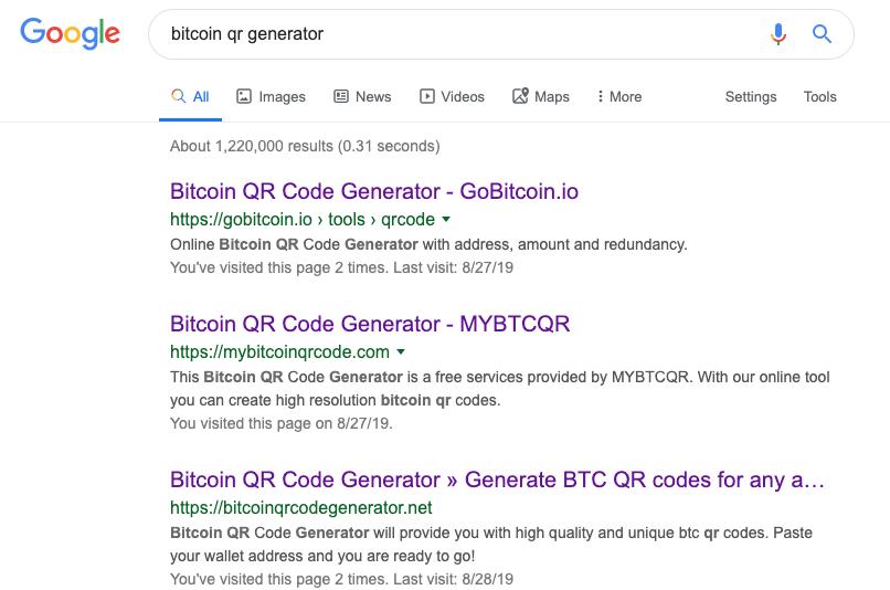Óvatosan a bitcoin QR-kód generálókkal! 5-ből 4 átverés