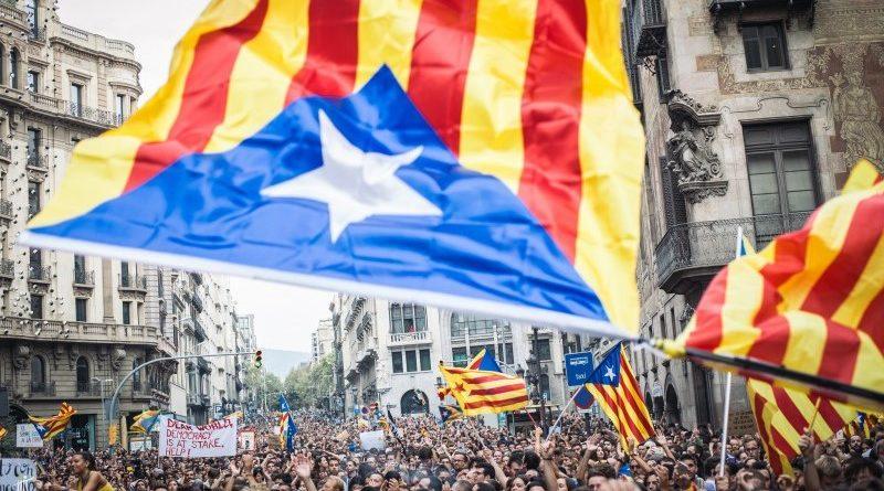 Katalónia, zászló, tömeg