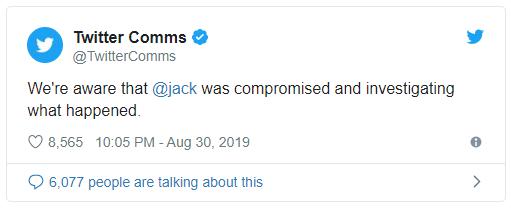 Feltörték Jack Dorsey fiókját