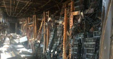 leégett egy bitcoin bányászfarm