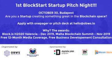 Nagyszabású blockchain startup megmérettetés lesz Budapesten