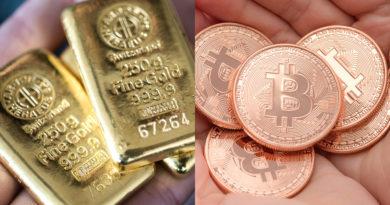 az arany ára óriásit esett a bitcoinnal szemben