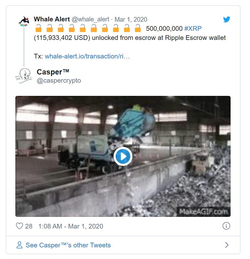 Whale Alert bejegyzés