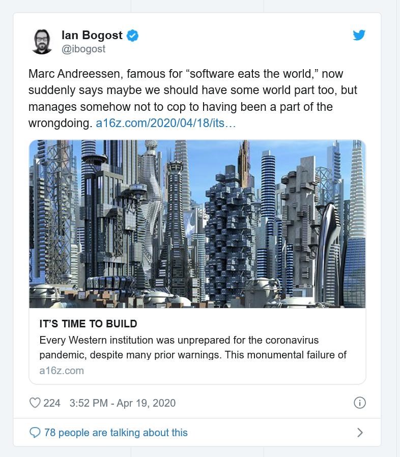 Ian Bogost tweet