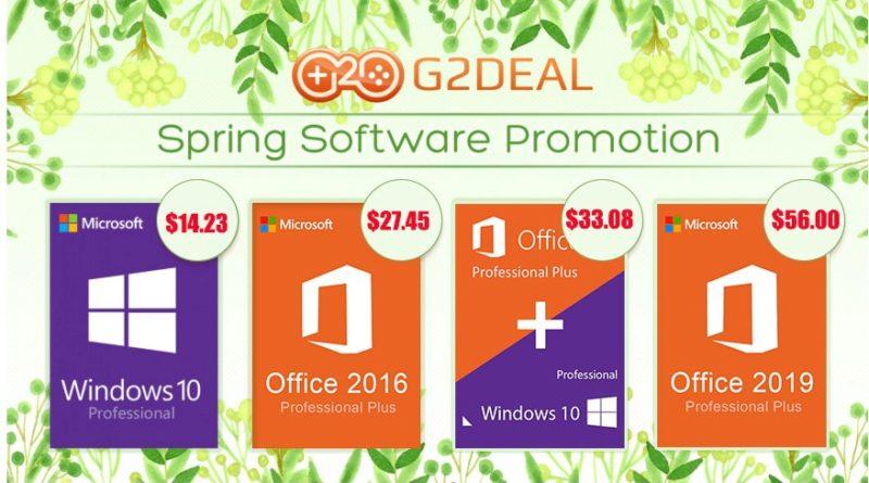 Tavaszi akció: Windows 10 pro OEM kulcs csak 14$ (4578 Ft) a G2dealtől