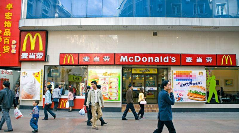 digitális jüan a kínai McDonald's -okban és Starbucksokban