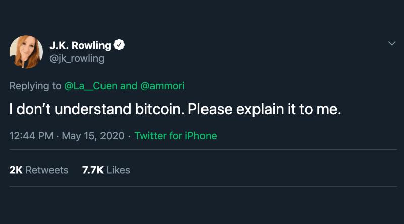 J.K. Rowling és a bitcoin