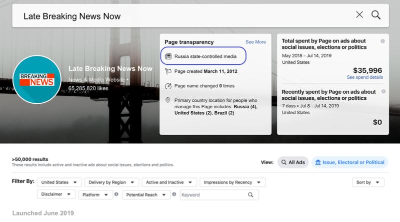 Címkézni kezdte a Facebook az állami felügyelet alatt álló sajtótermékeket